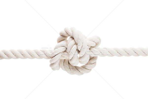 Tied knot on rope or spring Stock photo © ia_64