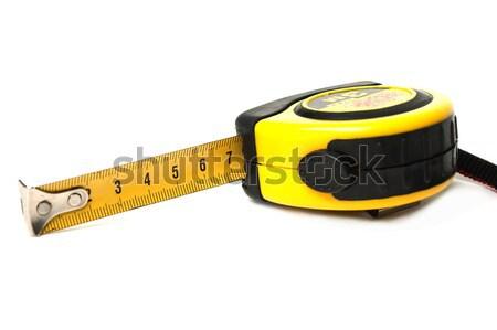Fita métrica ferramenta amarelo branco isolado Foto stock © ia_64