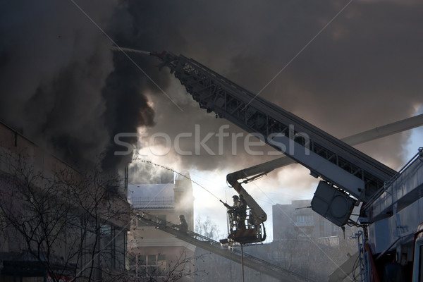 Firefighter on fire Stock photo © ia_64