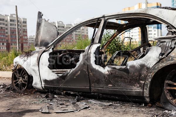 Tűz kerék autó jármű kacat út Stock fotó © ia_64