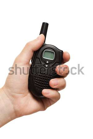 Hand holding walkie-talkie radio Stock photo © ia_64