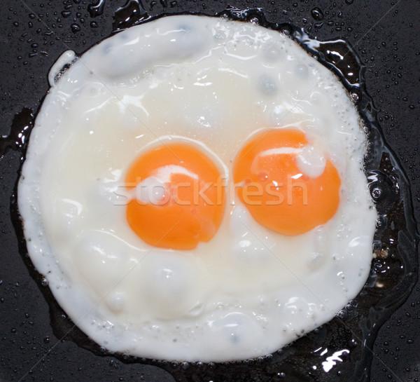 Ovo frito cozinhado comida alimentação café da manhã refeição Foto stock © ia_64