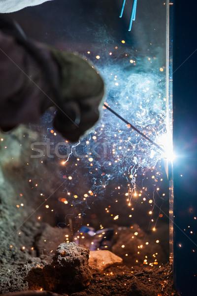 アーク ワーカー マスク 溶接 金属 ストックフォト © ia_64