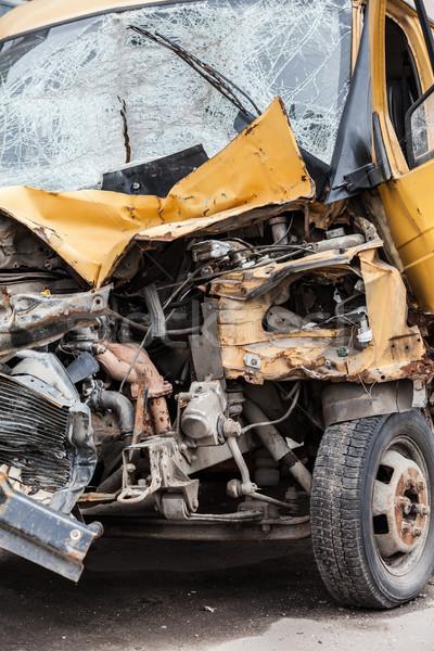 Elromlott autó út baleset csattanás sérült autó Stock fotó © ia_64
