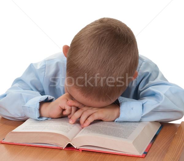 Dziecko książki mały czytania edukacji szkoły Zdjęcia stock © ia_64