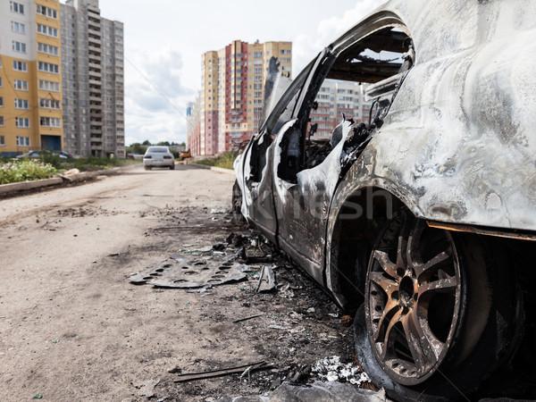 Yangın tekerlek araba araç yol Stok fotoğraf © ia_64