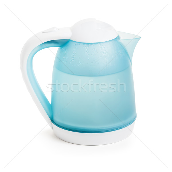 Hot water in electric kettle Stock photo © ia_64