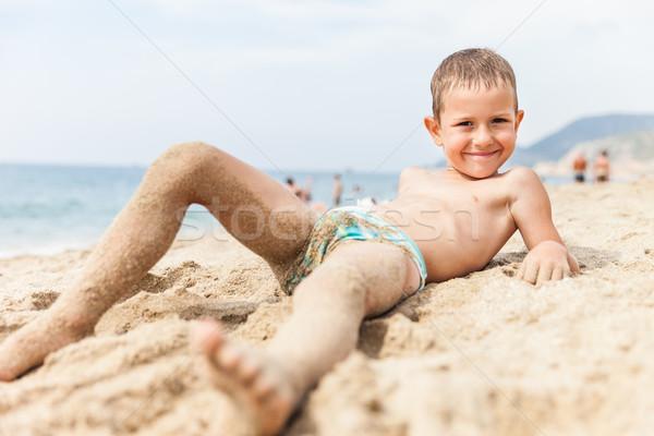Gyermek fiú tenger tengerpart nyár nyaralások Stock fotó © ia_64