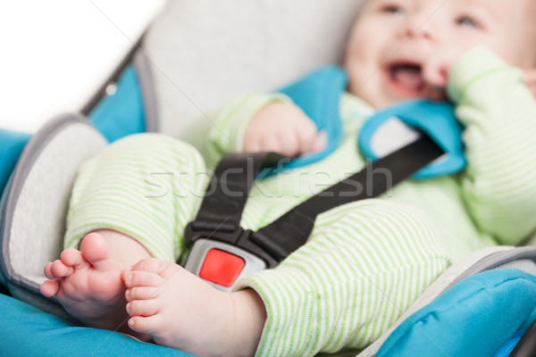 Little baby child in safety car seat Stock photo © ia_64