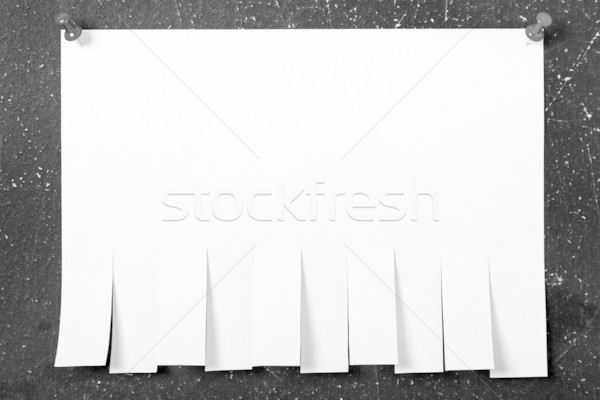 Pinned post-it paper note Stock photo © ia_64