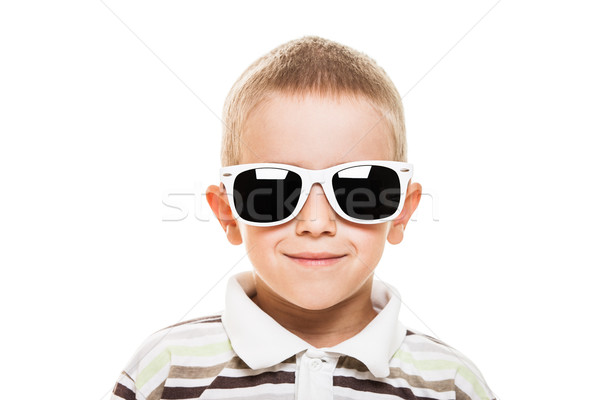 Smiling child boy in sunglasses Stock photo © ia_64