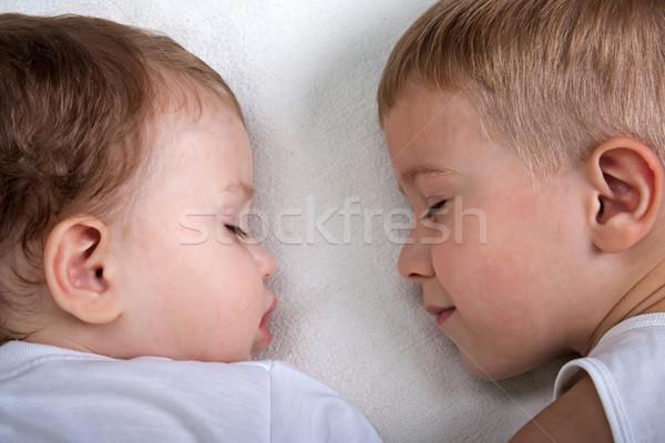 Pequeno criança adormecido felicidade família amor Foto stock © ia_64