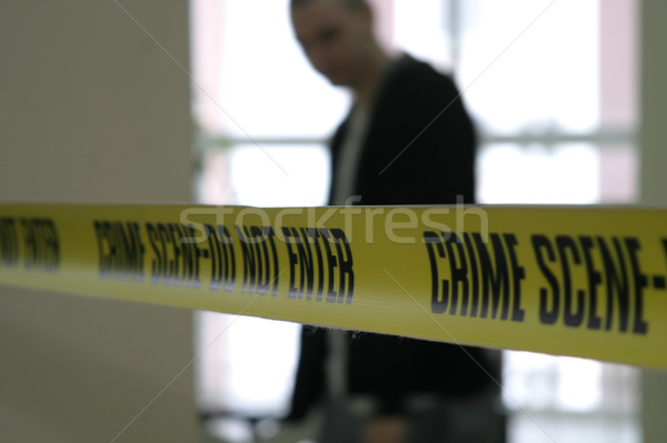Cena do crime polícia linha fita detetive agente Foto stock © ia_64