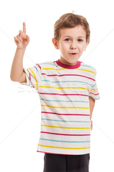 удивленный ребенка мальчика точки Сток-фото © ia_64