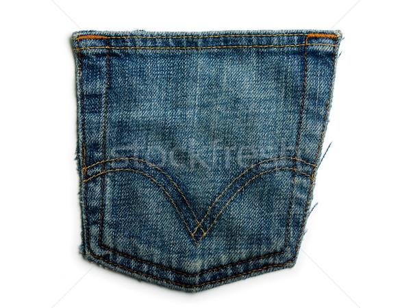 Stockfoto: Denim · jeans · achtergronden · textiel · materiaal