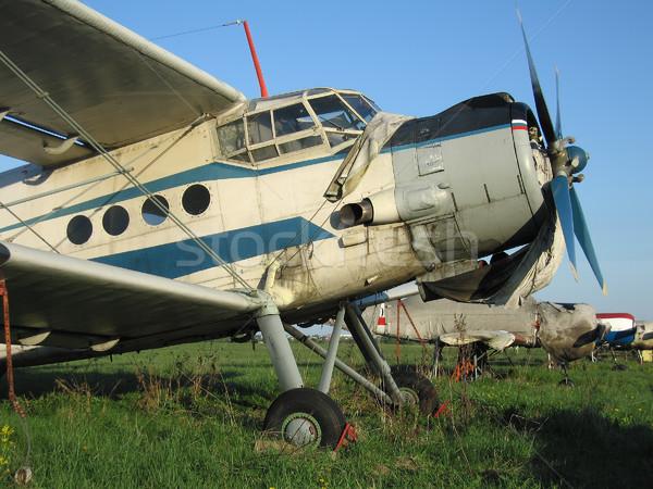 Pervane uçak motor kanat hava uçan Stok fotoğraf © ia_64