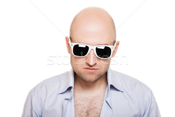 Cool bald head man in sunglasses Stock photo © ia_64