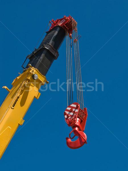 Gru gancio costruzione acciaio metal Foto d'archivio © ia_64