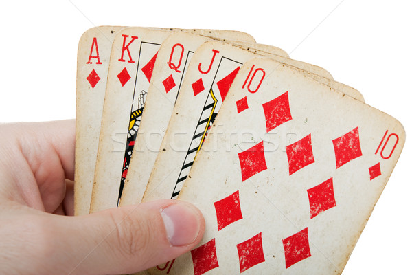 Poker gambling royal flush Stock photo © ia_64