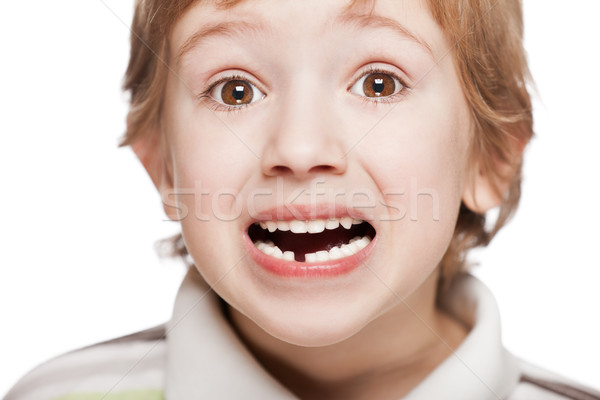 First baby milk or temporary tooth fall out Stock photo © ia_64