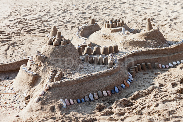 двухуровневый стробирующий импульс лет замок морем песок Сток-фото © ia_64
