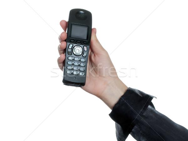 Telefon el insan eli iş iletişim teknoloji Stok fotoğraf © ia_64