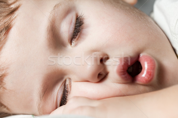 Gyermek alszik vicces kicsi aranyos emberi Stock fotó © ia_64