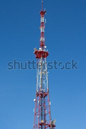 Télévision antenne communication ciel tour Photo stock © ia_64