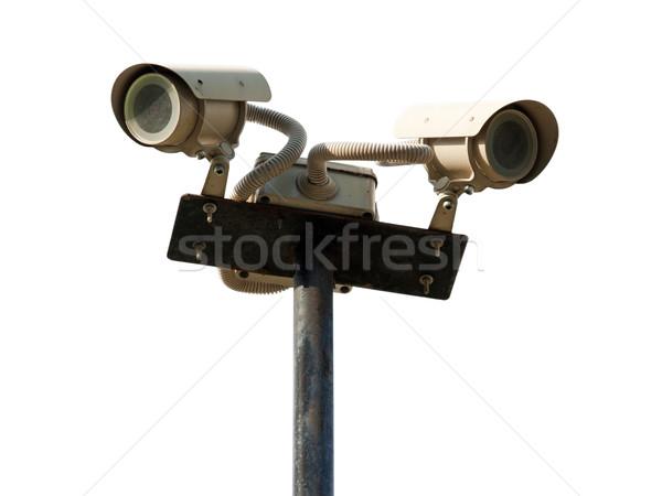 Сток-фото: камеры · безопасности · безопасности · смотрят · наблюдение · город · безопасности