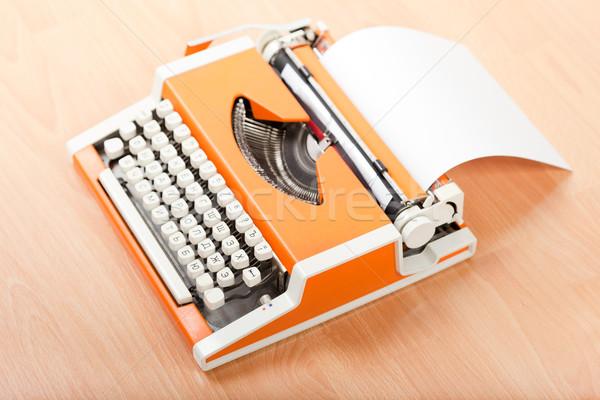 Typescript typing typewriter Stock photo © ia_64