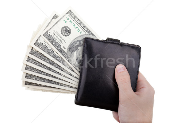Dollar currency wallet in hand Stock photo © ia_64