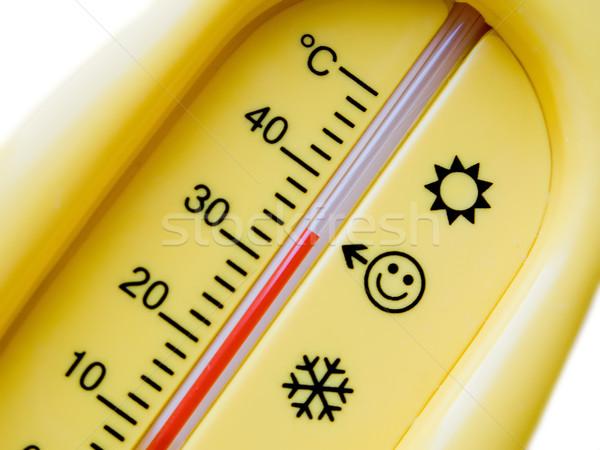 Température thermomètre froid chaleur santé fond Photo stock © ia_64
