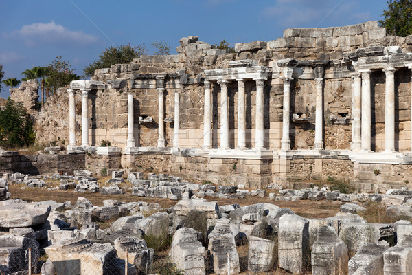 Ancient building columns at Turkey Side Stock photo © ia_64