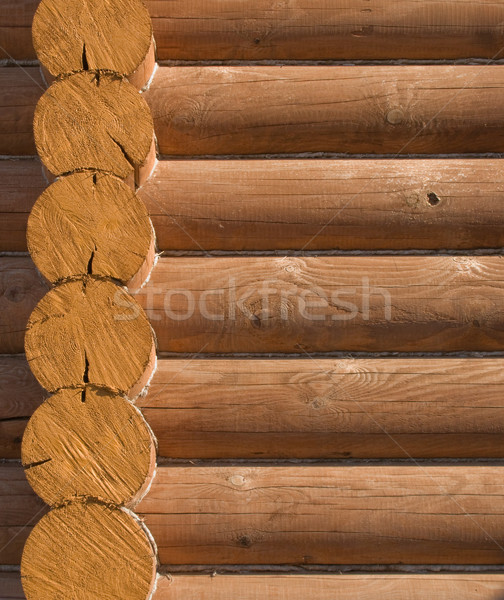 Log house structure of wood building home exterior Stock photo © ia_64