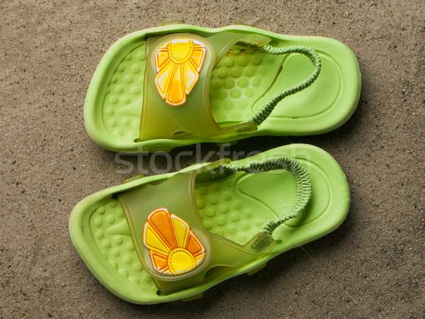 Natation chaussures été eau soleil Photo stock © ia_64