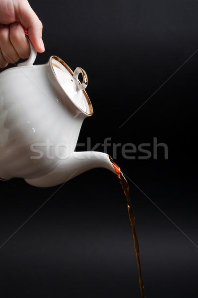 Theepot namiddag drinken warmte Stockfoto © ia_64