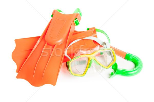 Scuba water duiken uitrusting snorkel masker Stockfoto © ia_64