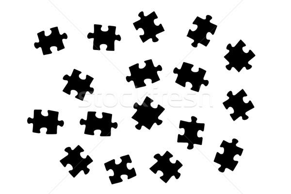 Puzzle kawałek związku rozwiązanie tłum Zdjęcia stock © ia_64