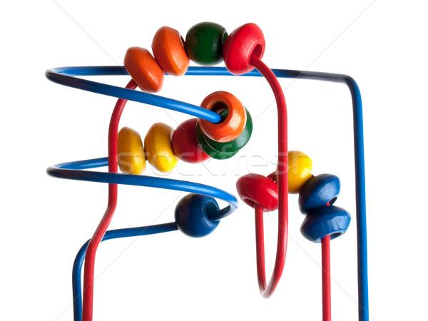 Koralik zabawki dziecko nauki kolor drewna Zdjęcia stock © ia_64
