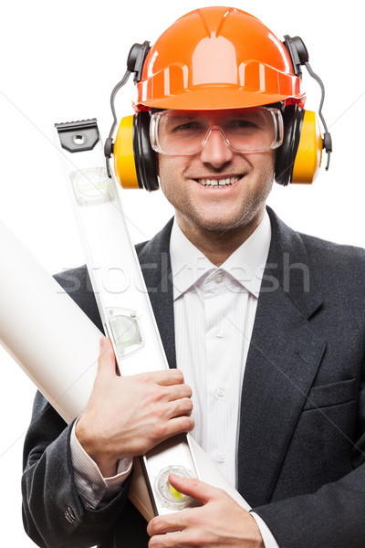 Empresário segurança capacete de segurança capacete papel Foto stock © ia_64