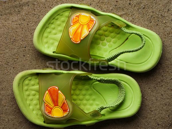 úszik cipők nyár nyaralások nap narancs Stock fotó © ia_64