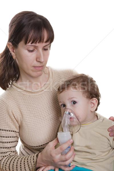 Inhaling mask Stock photo © ia_64