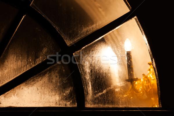 Lampe lumière église fenêtre taché Photo stock © ia_64