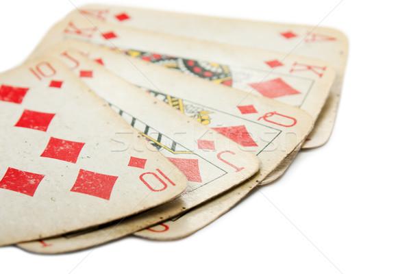 Poker gambling royal flush Stock photo © ia_64