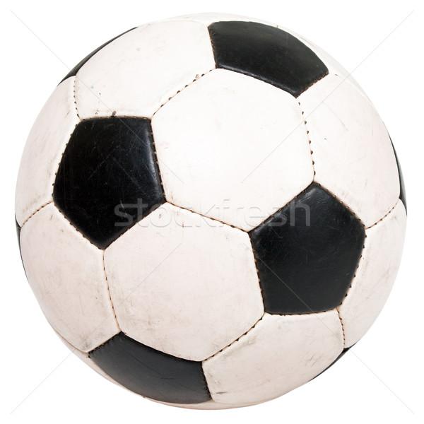 Voetbal zwart wit voetbal voetbal sport bal Stockfoto © ia_64