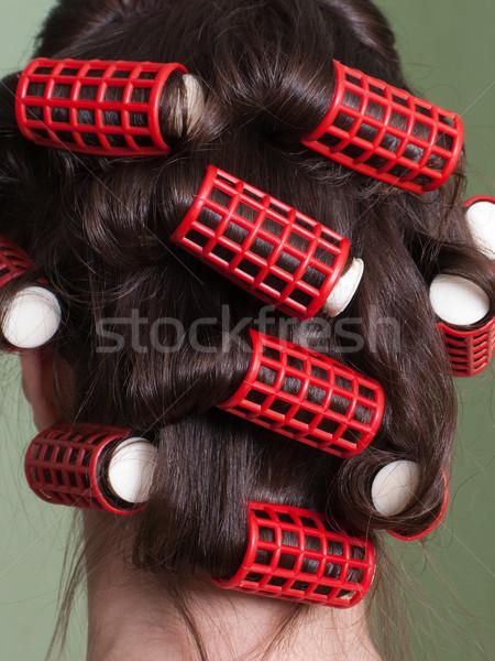 Hair rollers Stock photo © ia_64