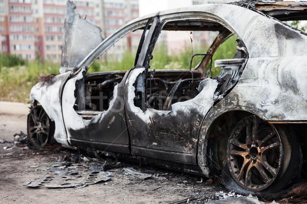 огня колесо автомобилей автомобиль дороги Сток-фото © ia_64