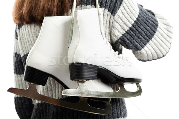 Women holding ice skates Stock photo © ia_64