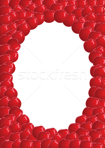 Váz cseresznye piros gyümölcsök szín hátterek Stock fotó © iaRada