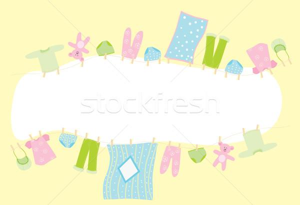 赤ちゃん バナー 下着 空 ファッション 子 ストックフォト © iaRada